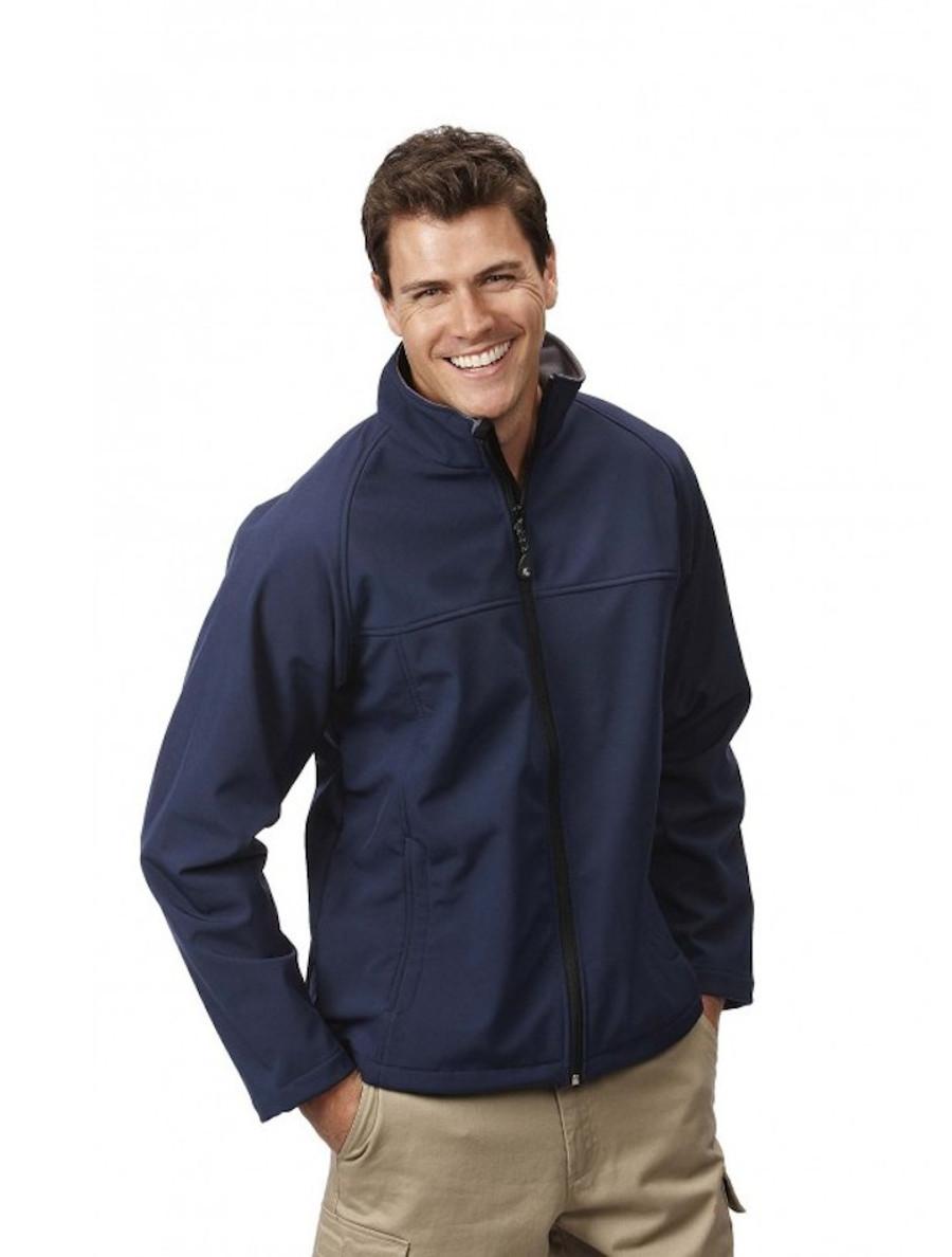 Mens Layer Soft Shell Jacket (Navy)