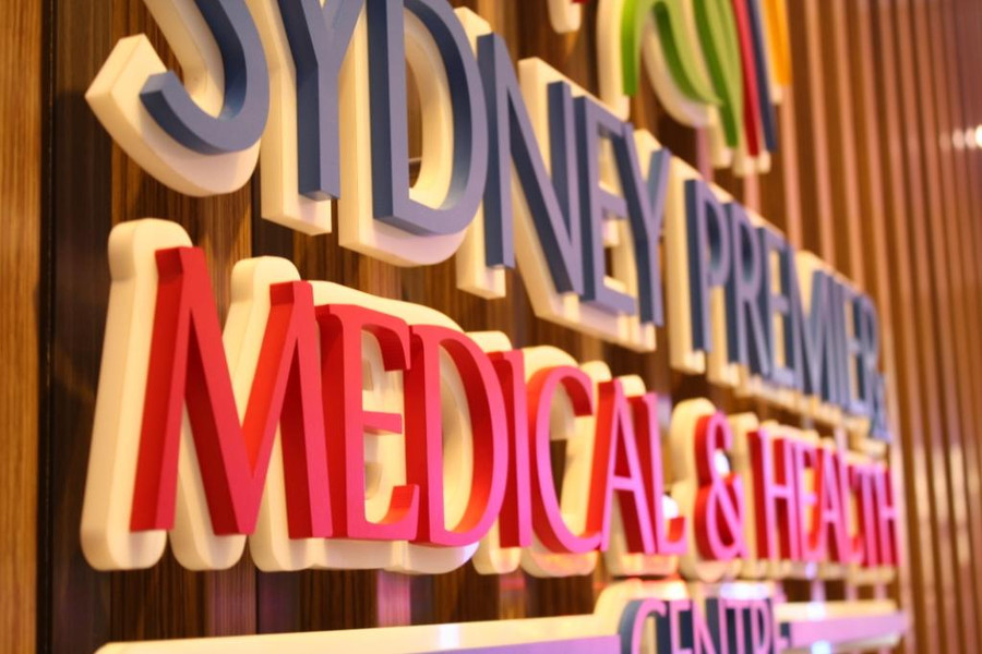 Medical Centre Floating 3D Double Layer Reception Sign