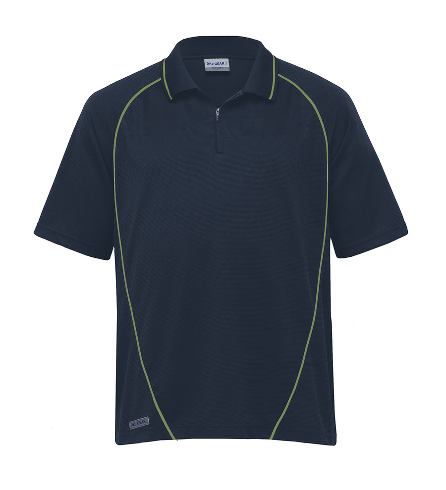 Piped Ottoman Instinct Polo (Navy/Apple)
