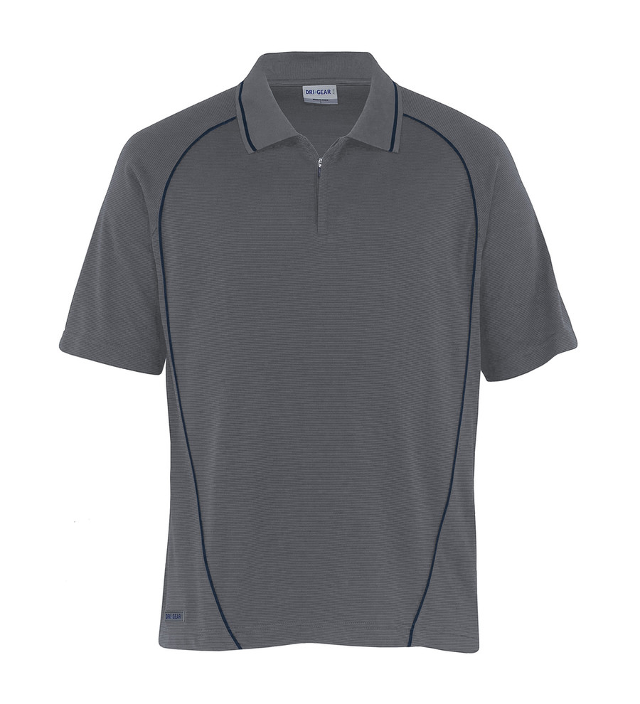 Piped Ottoman Instinct Polo (Charcoal/Navy)