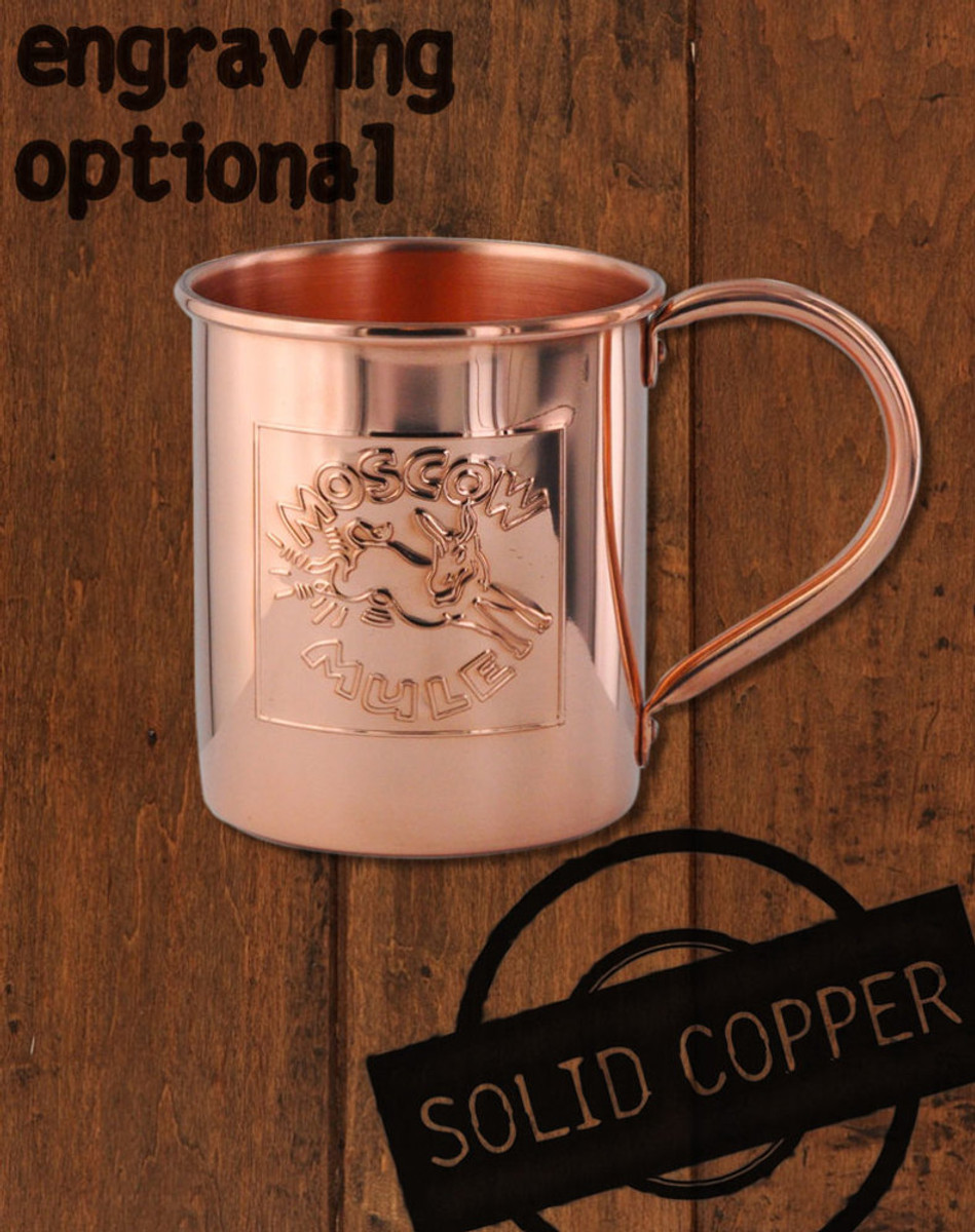 18oz embossed logo copper moscow mule mug by paykoc mm12081l