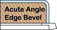 Acute ski edge bevel