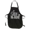 Big Daddy Apron, white silkscreen on black apron, one size fits all