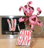 Bacon Pride Bundle contains a bobble-pig magnet, bacon strip search magnet and bacon graphic key chain