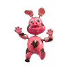 pink bobble magnet with spring arms, ears and curly tail