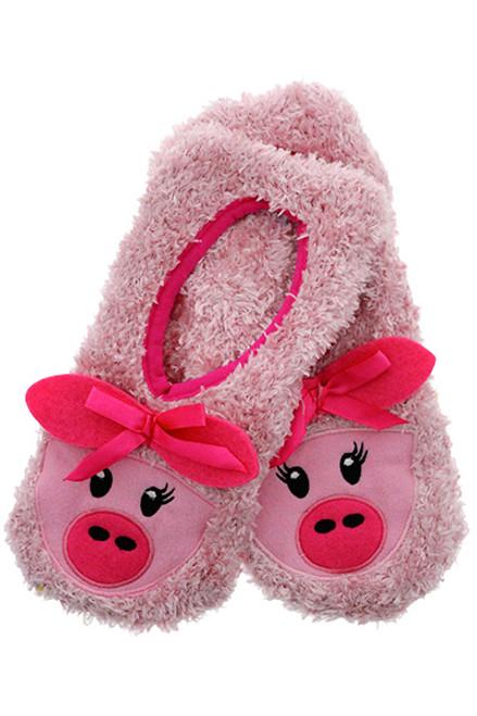 Pink Piggy Slippers