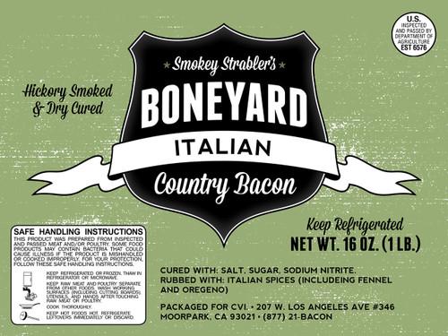Smokey Strabler's Italian Flavored Bacon