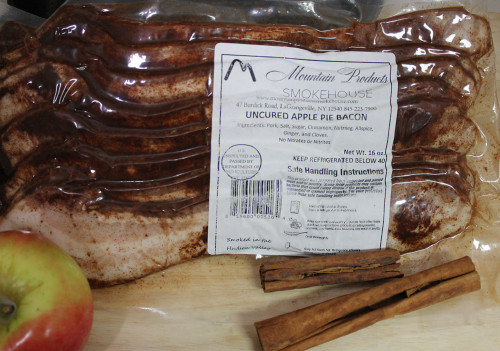 Uncured Apple Pie Bacon in vacuum pack