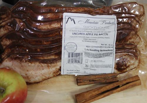 Uncured Apple Pie Bacon in vacuum pack
