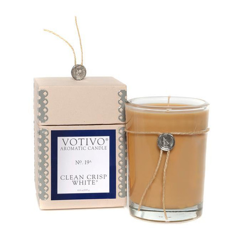 Votivo Aromatic Collection Clean Crisp White Boxed Candle