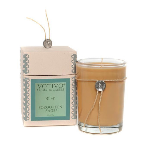 Votivo Aromatic Collection Forgotten Sage Boxed Candle