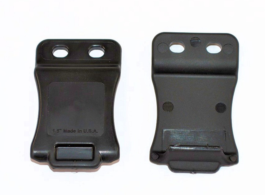 """QUICK-CLIP, BLACK, WITH SLOTTED HOLES 1.5"""" BELT SIZE"""