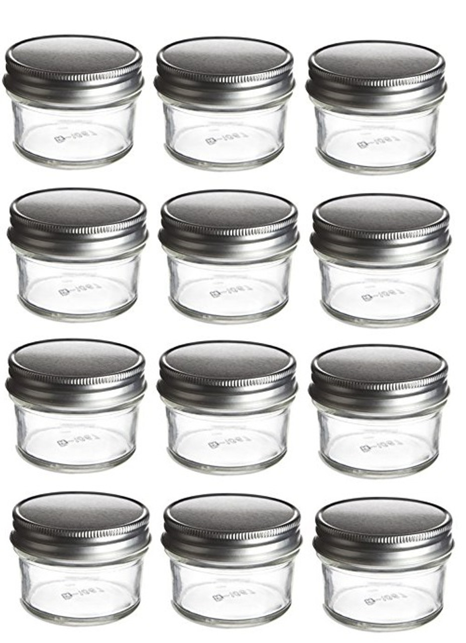 Attrayant 4 Oz Mason Glass Jars For Jam, Honey, Pie With Silver Lid   Pack