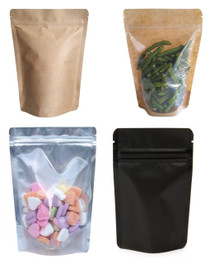 Four Ounce Barrier Bags Stand Up Zipper Pouches