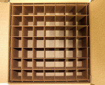 Corrugated Box with 64 Dividers (Fits 64 - 4 oz. Boston Round Bottles)