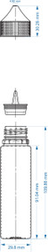 Case 500pcs, 60 ML PET BLACK TRANSLUCENT UNICORN BOTTLE WITH CRC & TEMPER EVIDENT BOTTLE