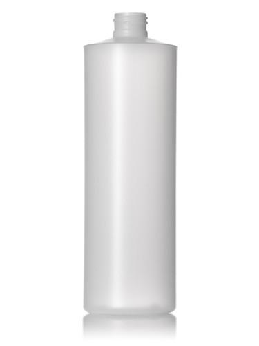 8 Oz White Hdpe Plastic Cylinder Bottle W White Disc Cap