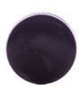 Black PP 38-400 ribbed skirt lid with unprinted pressure sensitive (PS) liner