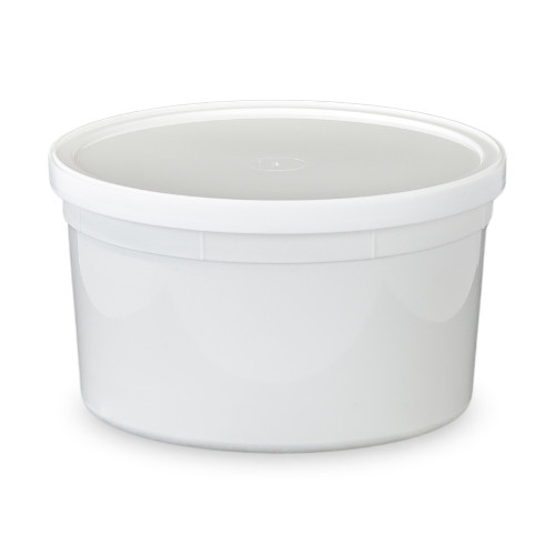 48 Oz. BPA Free Food Grade Round Container With Lid (T60748CP)   Starting  Quantity 25 Count   FREE SHIPPING