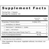 Supplement Facts Serving Size: 1 capsule; Servings Per Container: 120 Ingredients: Proprietary Probiotic Blend, 6 billion CFU's: L. acidophilus, B. bifidum, L. rhamosus, L. plantarum, L. reuteri, L. casei, L. fermentum; Cranberry Seed Flour (Nutri-Power Flour™) 300 mg†, FOS (Fructooligosaccharides) 50 mg†. †Daily Value not established. Other Ingredients: Rice starch, rice extract, rice concentrate, vegetable cellulose.