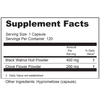 Supplement Facts Serving size: 1 capsule; Servings per container: 120 Ingredients: Black Walnut Hull Powder 400 mg, Clove Flower Powder 200 mg. Other Ingredients: Hypromellose (capsule).