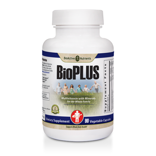 Gluten-free | Animal-free | Yeast-free BioPlus provides a strong foundation of vitamins and minerals perfectly formulated for the whole family. Using only the right nutrients, in the most readily available forms and the amounts your body needs, to provide: Whole Body Nourishment*.  Vitamins and minerals are essential for: Immunity Support*, Energy*, Cardio Support*, Blood Sugar Support*.