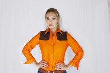 Piper long sleeve shirt in Blaze Orange