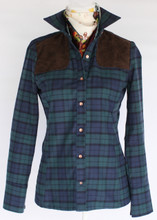 Piper Long Sleeve in Green and Blue Plaid