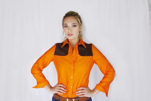 Piper long sleeve shirt in Blaze Orange