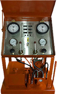 Control console for the operation of  single SWACO drilling choke.