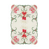 Set of 4 Holiday Collection Christmas Embroidered Fabric Table Placemats, 11x17 inch