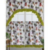 Kashi Home Andrea Kitchen Curtain Swag Set, Apple, Grape & Pear Printed Design