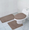 Hailey 3 Piece Bath Rug Set, Bath Math, Contour Rug, Lid Cover