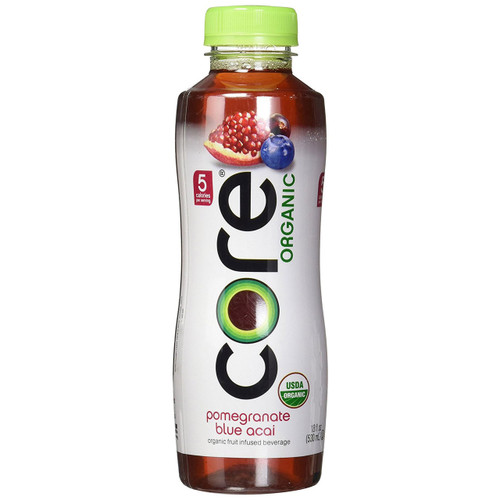 Core Organic Fruit Infused Beverage, Pomegranate Blue Acai , 18 Ounce (Pack of 12)