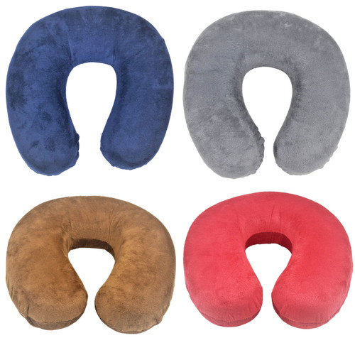 Sheradian Memory Foam Travel Pillow, Removable Zippered Cover, Neck Support Comfort Cushion For Traveling, Flight, Road Trip