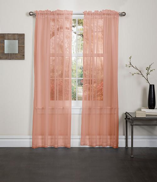 Lisa Sheer Voile Window Curtain Panel Linen Store