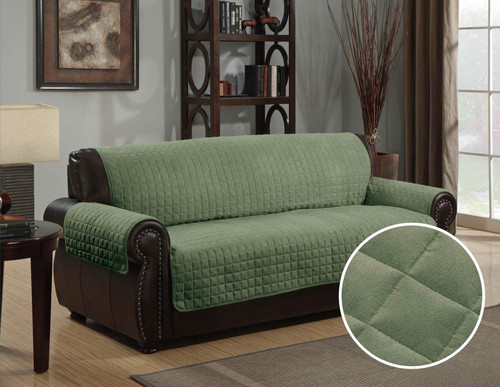 KASHI HOME MICRO-SUEDE FURNITURE PROTECTOR, COUCH SOFA