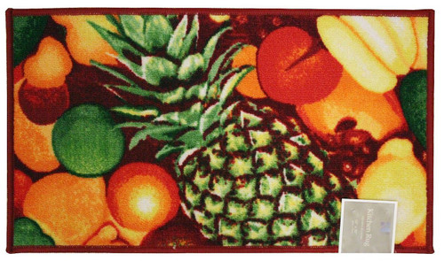 "Rectangle Latex Back Pineapple Kitchen Rug, Area Rug, Mat, Carpet – 18""x30"""