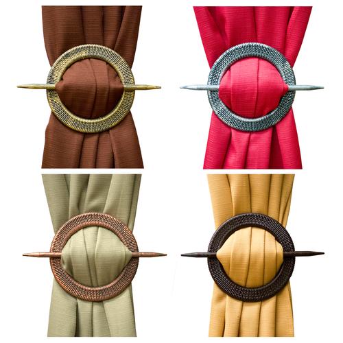 Round Braid Curtain Holdbacks - Set of 2