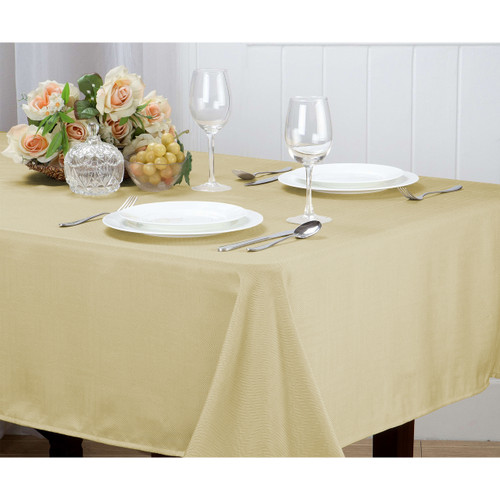 Matilda Geometric Jacquard Fabric Tablecloth Rectangle Round, 4pk Cloth Napkin Set