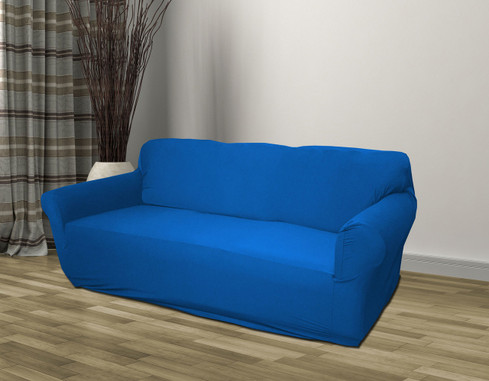 Blue Jersey Chair Stretch Slipcover Couch Cover Chair