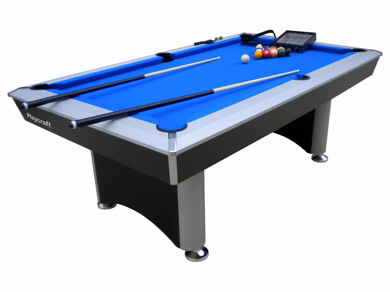 Sprint Pool Table With Electric Blue Cloth Playcraft - Electric blue pool table