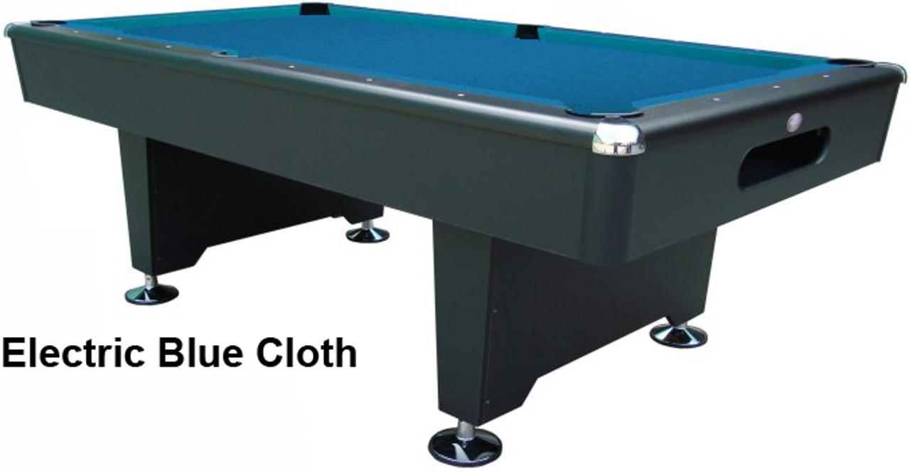 Knight Slate Pool Table Series Playcraft - Electric blue pool table