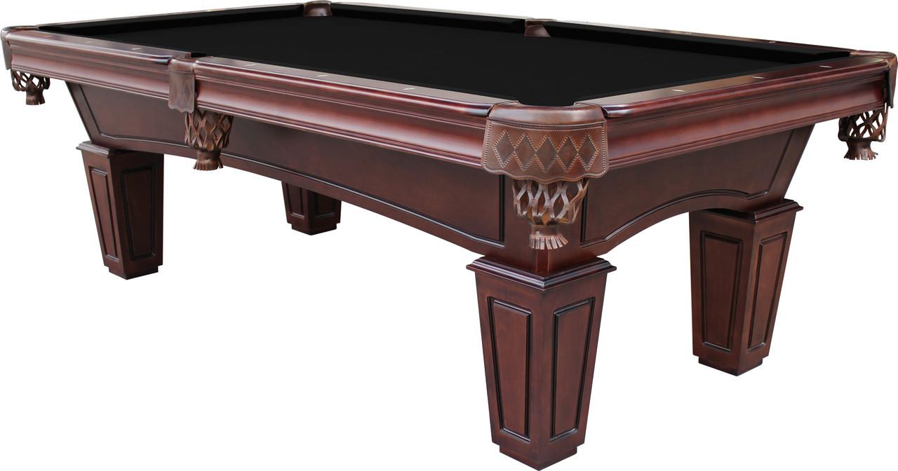 ... St Lawrence 8u0027 Slate Pool Table W/ Leather Drop Pockets ...