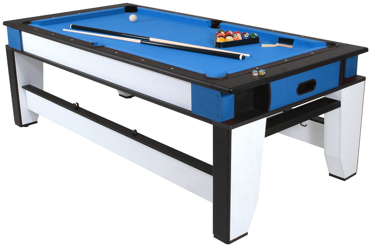 Bon Playcraft Double Play 2 In 1, 7 Foot Billiards And Air Hockey Table