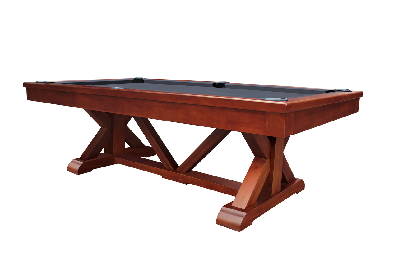 Brazos River Slate Pool Table Leather Drop Pockets Playcraft - Pool table without slate