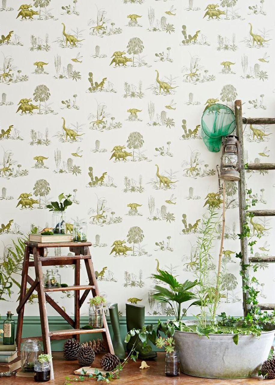 Green Dino Wallpaper