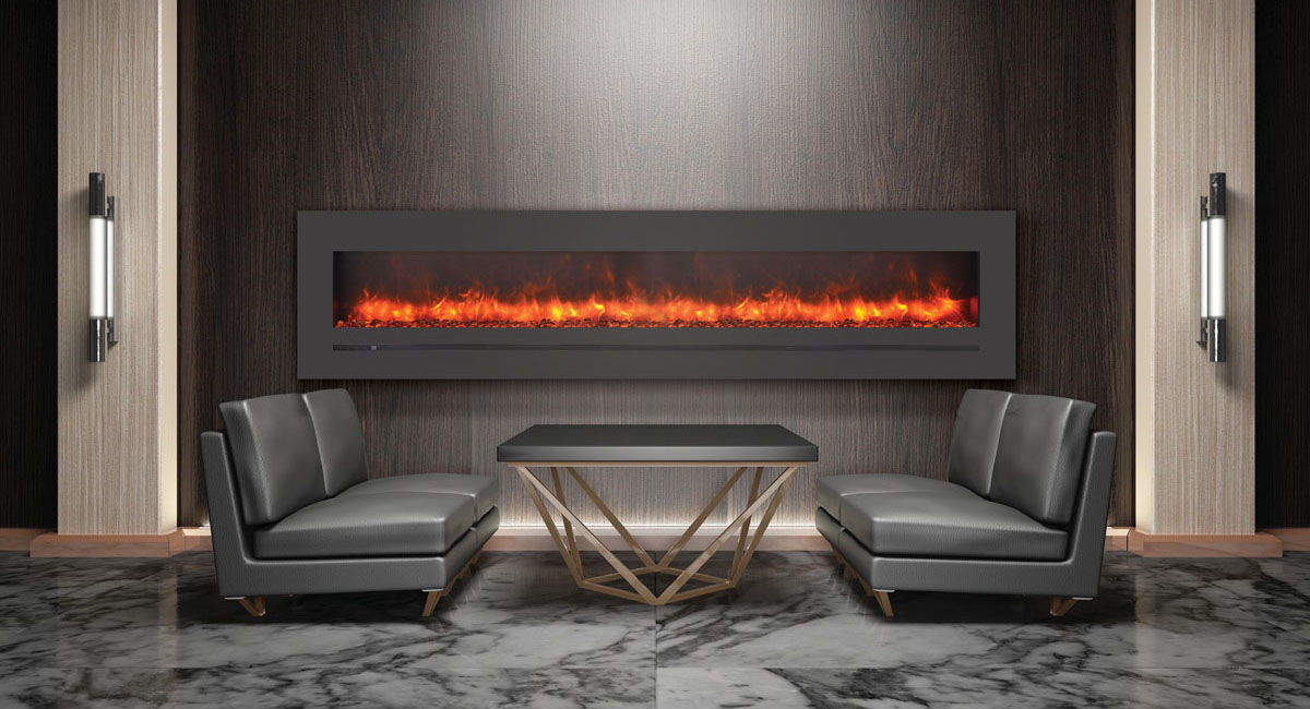 """Electric Fireplace -  Sierra Flame - 88"""" wide"""