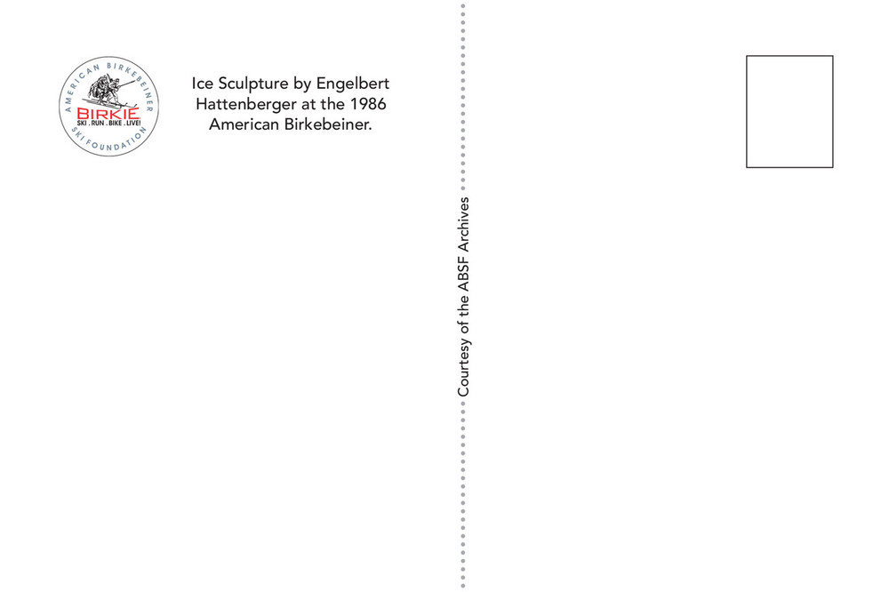 Postcard - Telemark Ice Carvings