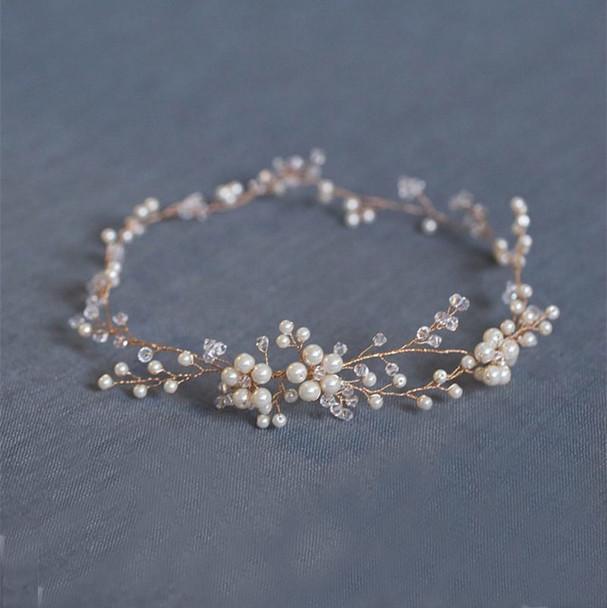 Fashion Floral Gold bridal hair accessories Handmade